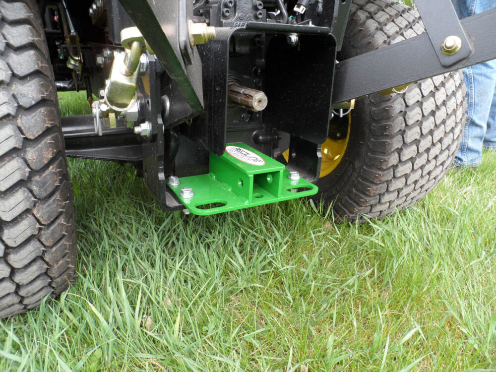 John Deere Compact Tractor Rear Receiver Hitch and Tie Downs Photo 1